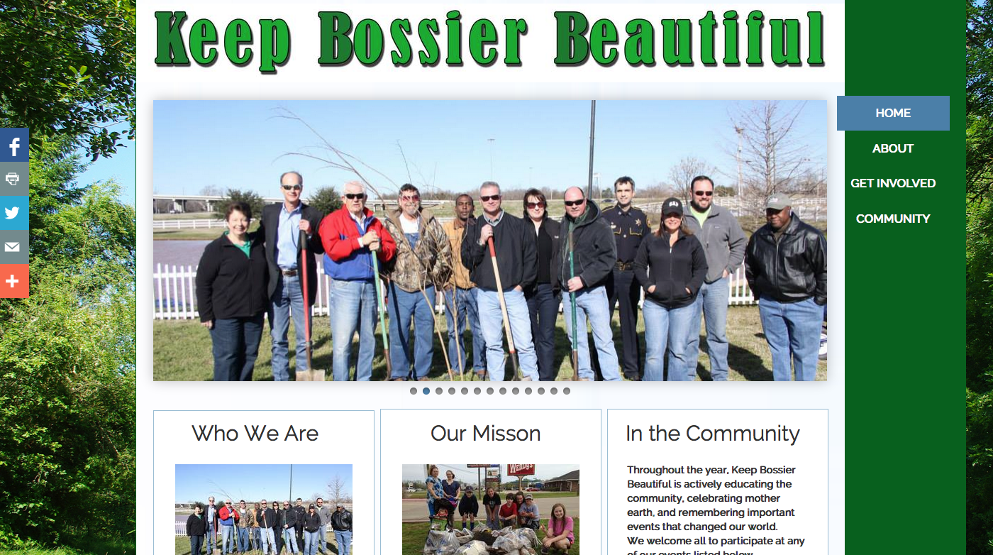 Keep Bossier Beautiful Project