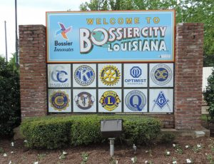 Clean.Welcome to Bossier Sign