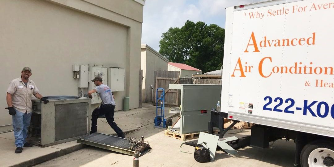 2 Johns New AC Commercial HVAC Advanced AC Shreveport Bossier