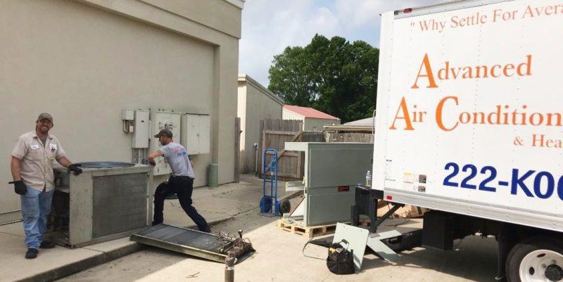 2 Johns New AC Commercial HVAC Advanced AC Shreveport Bossier