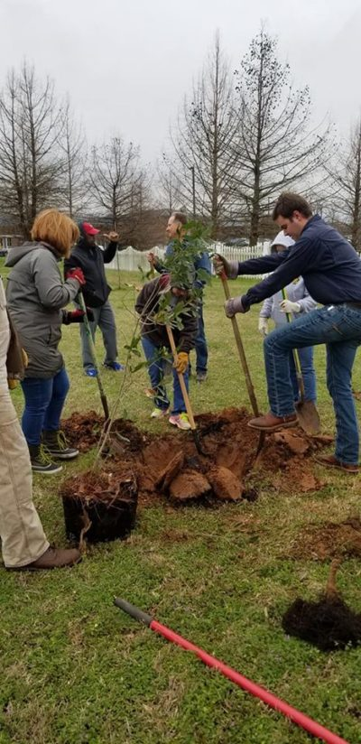 Advanced Air Conditioning and Heating Inc Arbor Day Community Project and dedication 5